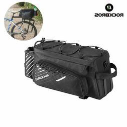 ROCKBROS Mountain Bike Bicycle Black Rear Rack Pack Bag Larg