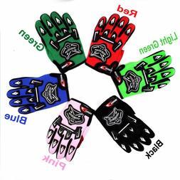 Pair Kids Youth Racing Gloves Motocross Sports Full Finger M