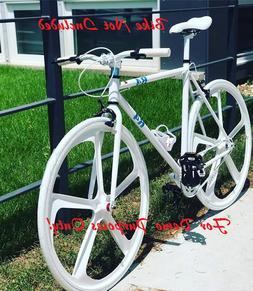 Premium 700c Track Bike 5-Spoke Mag Rims Fixed gear Bicycle