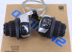 Shimano RevoShift SL-RS45 3 x 7 Speed Bike Grip Shifter Set