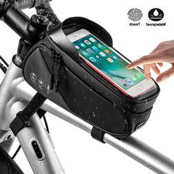 Road MTB Mountain Bike Front Frame Bag Waterproof Top Tube C