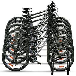 Six Bike Wheel Rack Storage Organizer Floor Mount Vertical P
