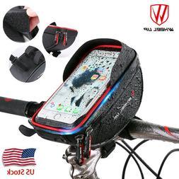 Wheelup Waterproof Bike Handlebar Bag Bicycle Front Tube Fra