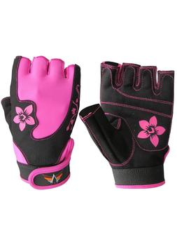 Women Sports Racing Bike Cycling Half Finger Gloves Short Fi